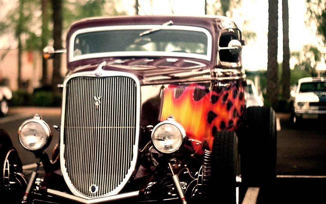 1933 Ford Coupe through a 40 year old camera.