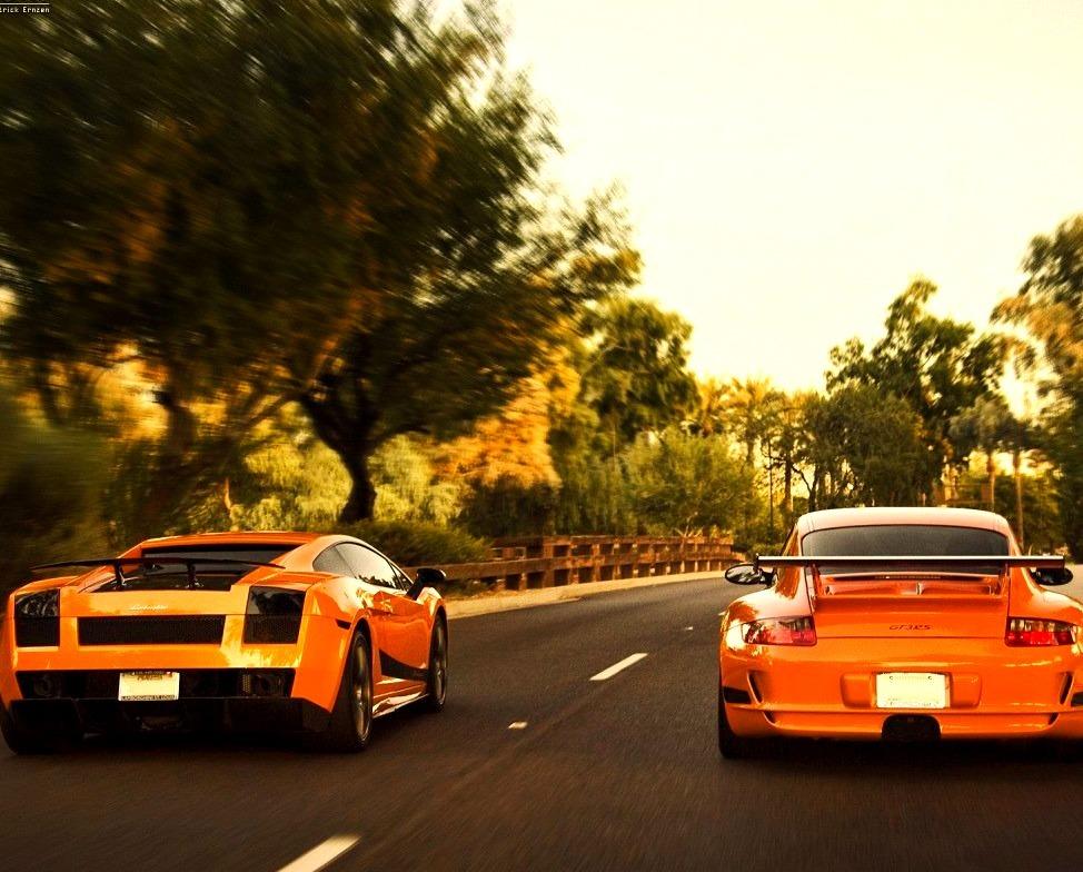 Lamborghini Gallardo Superleggera and Porsche 911 GT3 RS (997)